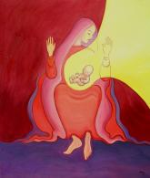 The Annunciation - a painting by Elizabeth Wang